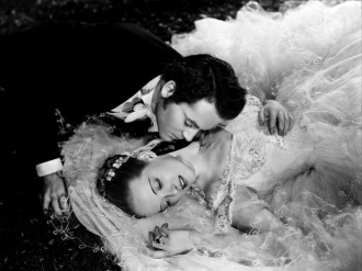 "Bette Davis with Henry Fonda in ""Jezebel,"" the 1938 film that won Miss Davis her first Academy Award."
