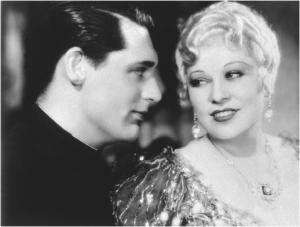 "Mae West and Cary Grant in 1933's ""She Done Him Wrong"""